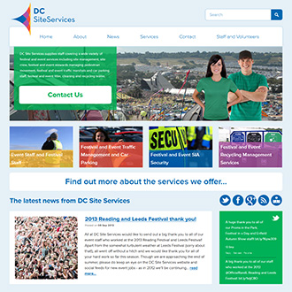 Hampshire Web Design for DC Site Services