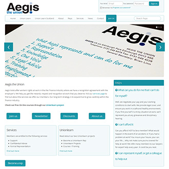 Web Design in Hampshire for Aegis the Union