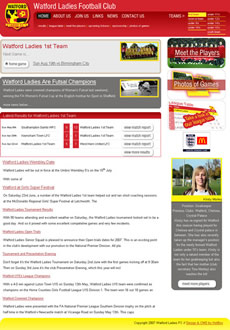 Web Design and Website Development for Watford Ladies F.C.