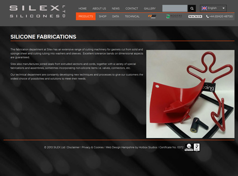 Silex Silicones - Web Design Hampshire - Silicone Fabrications