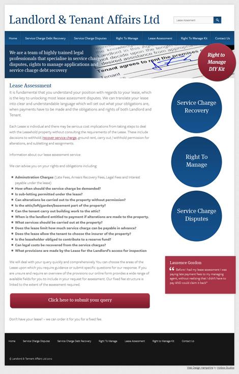 Landlord and Tenant Affairs WordPress Web Design | Hotbox
