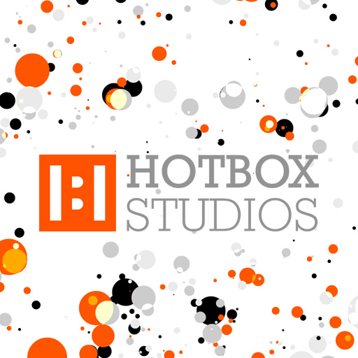 Hotbox Studios logo with bubbles