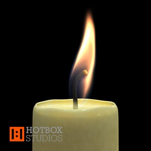 Mental Ray for Maya Subsurface Scattering Candle Wax Tutorial - 3D Candle Animation frame 00130