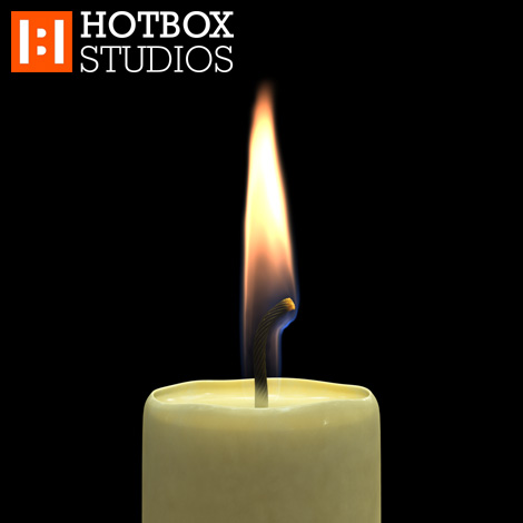 3D Candle Animation by Mark Hatchard - Frame 00067