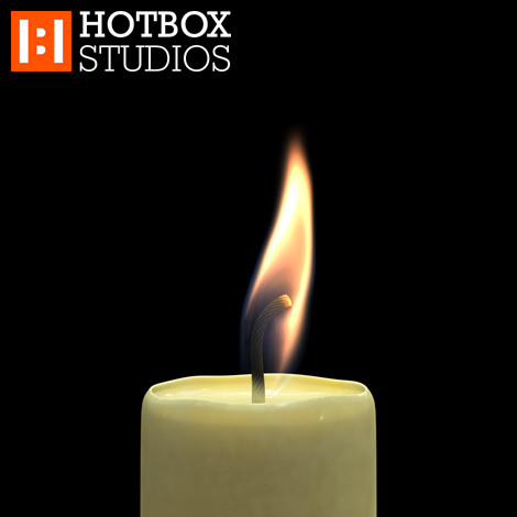 3D Candle Animation by Mark Hatchard - Frame 00130