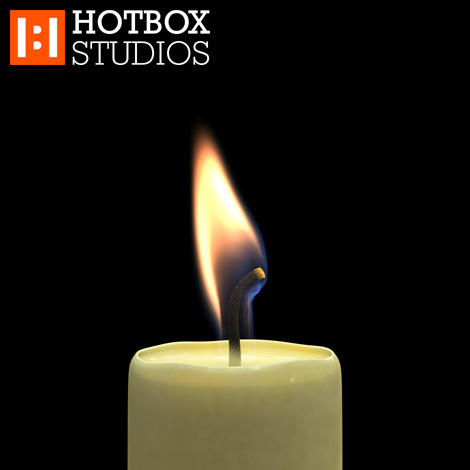 3D Candle Animation by Mark Hatchard - Frame 00094