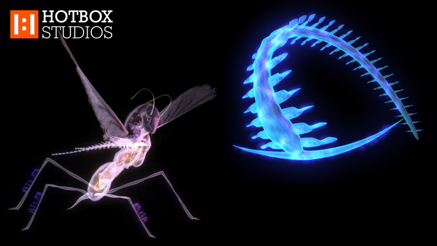 Performing Arts Animation and Fine Art animation - Nemesis animation alien fish and fly v2015001