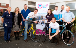 Sponsoring Carrie Burgess cycling for hospital charity's breast care appeal