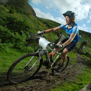 Sponsoring Amy O'Loughlin competing in the TransWales Mountain Bike Event