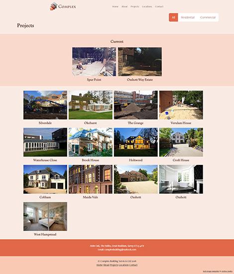 Complex building services wordpress web design for Building services design