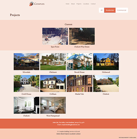 Complex Building Services Web Design - Screen Print 004 - Projects Residential 470x475Px72Dpi