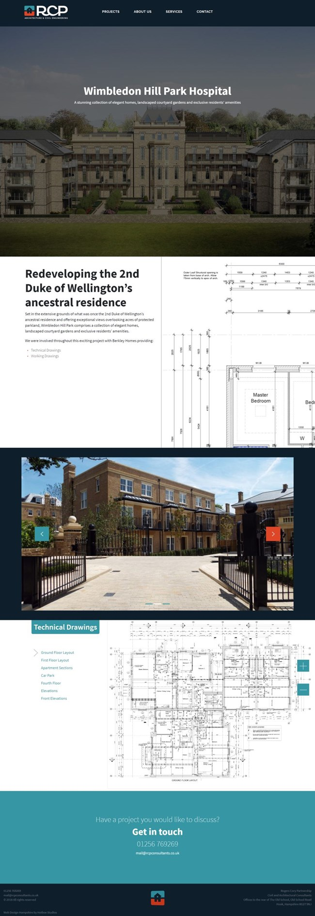 Rogers Cory Partnership Wordpress Web Design SP004 Projects Wimbledon Hill Park Hospital