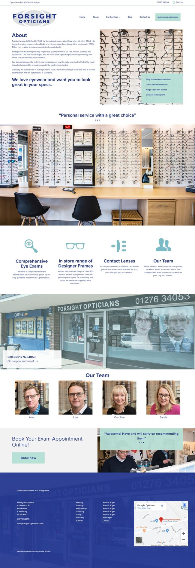 Forsight Opticians Wordpress Web Design SP002 About