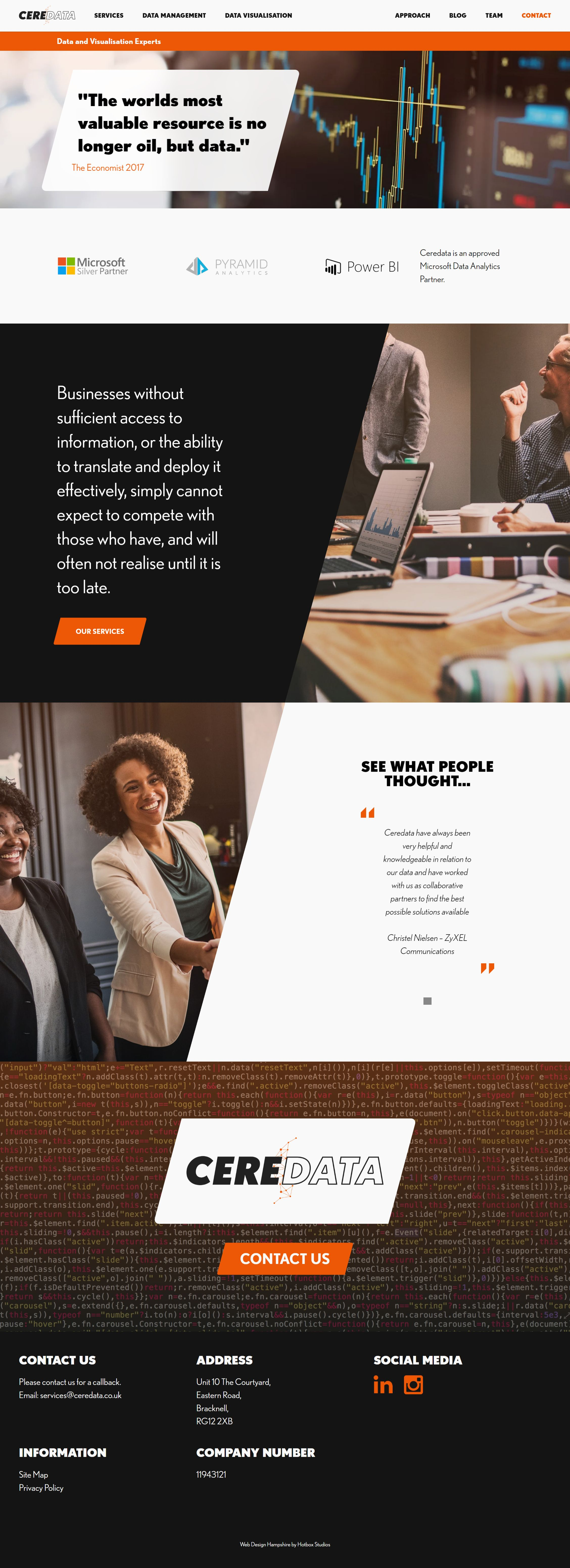 Ceredata Wordpress Web Design SP001 Homepage