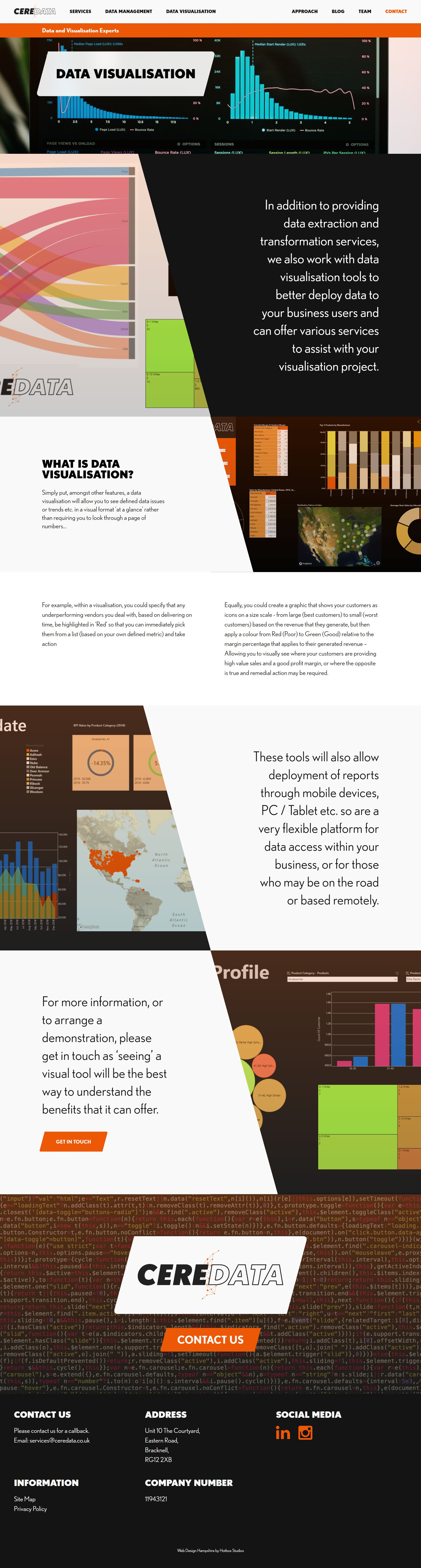 Ceredata Wordpress Web Design SP004 Data Visualisation