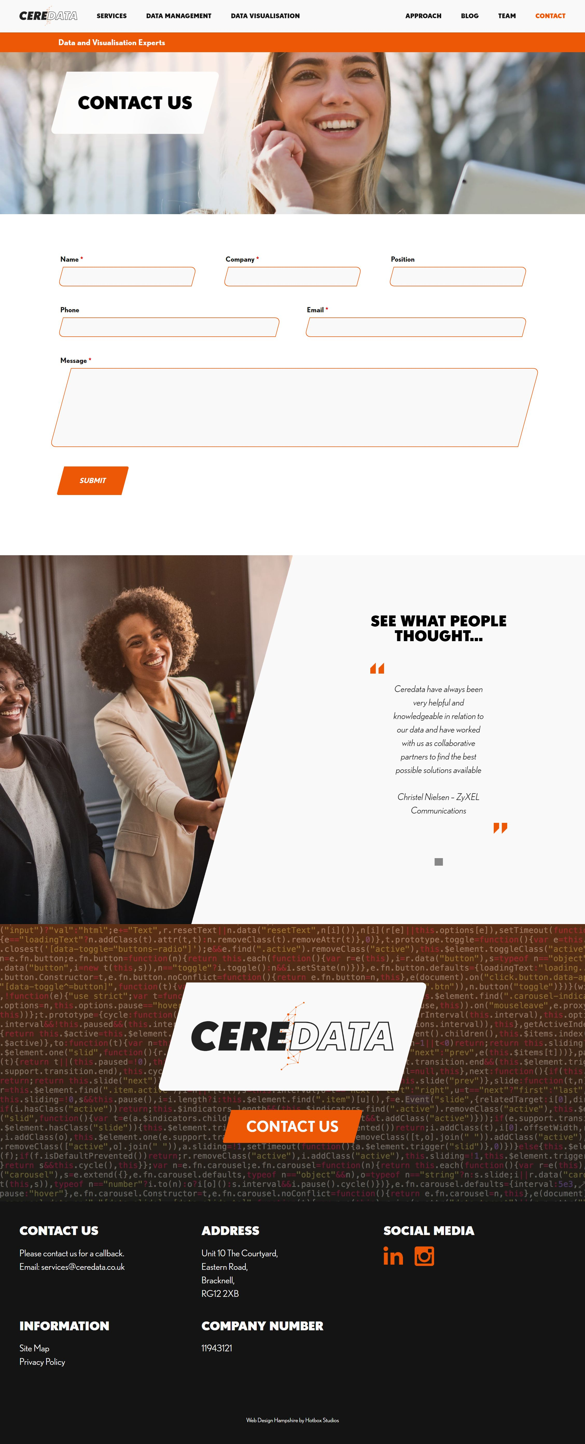 Ceredata Wordpress Web Design SP008 Contact