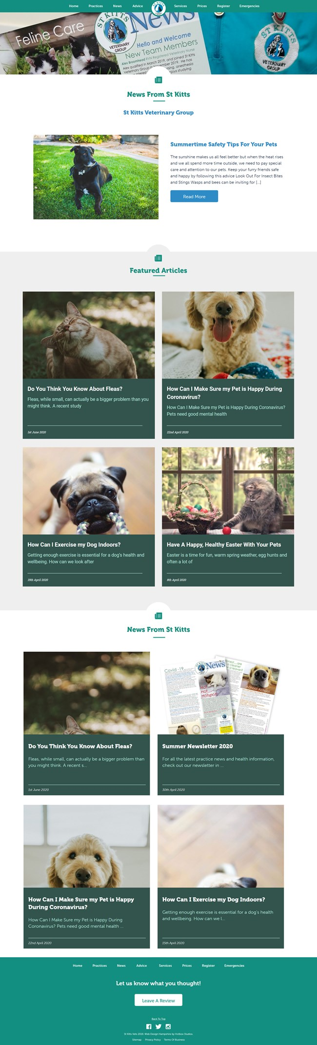 St Kitts Vet Website Design and WordPress Web Development SP008 News