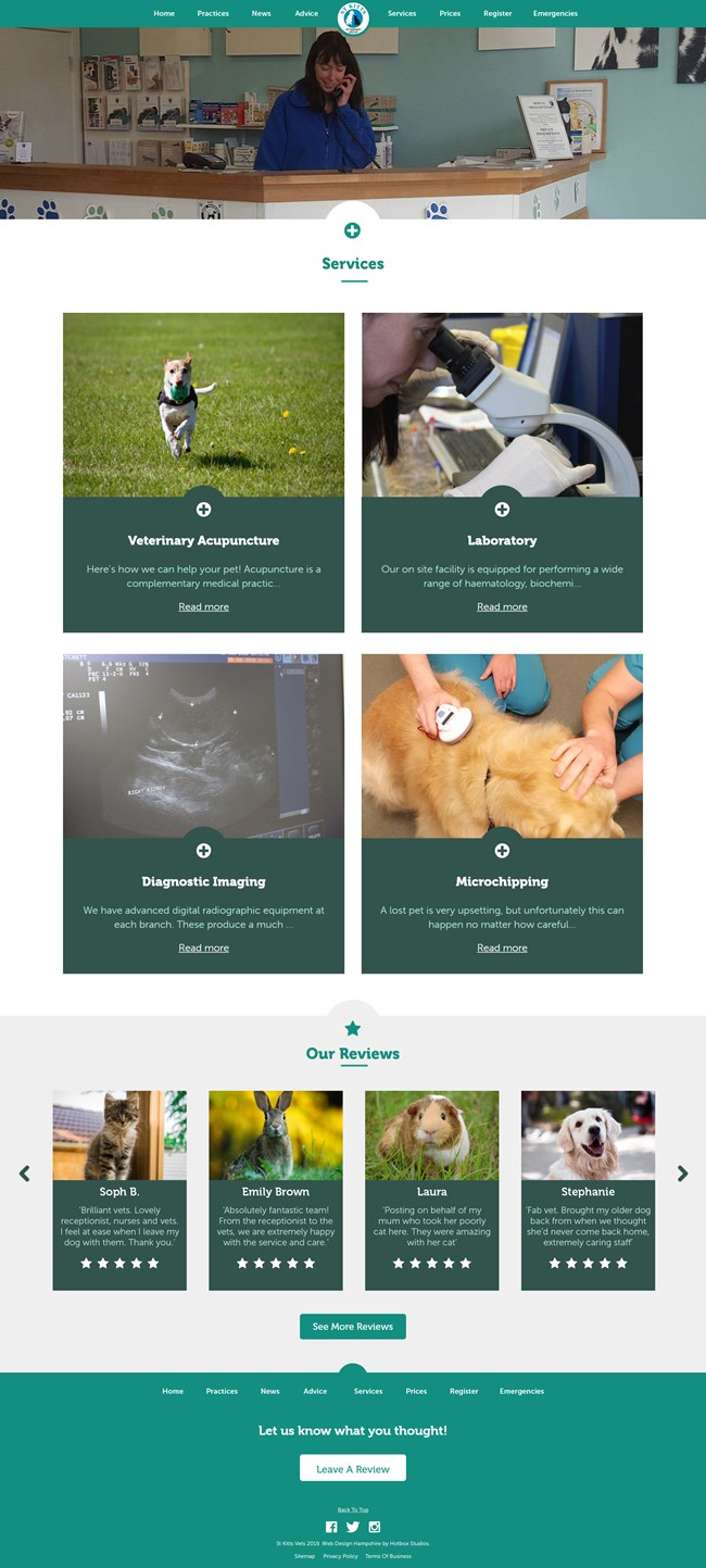 St Kitts Vet Website Design and WordPress Web Development SP012 Services