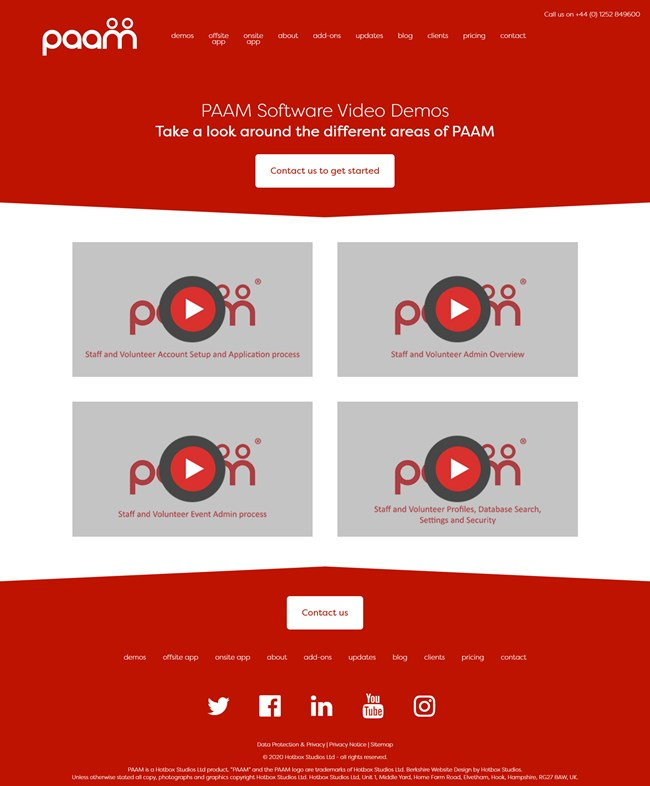 PAAM Software App Website Design and Umbraco Web Development SP002 Video Demos