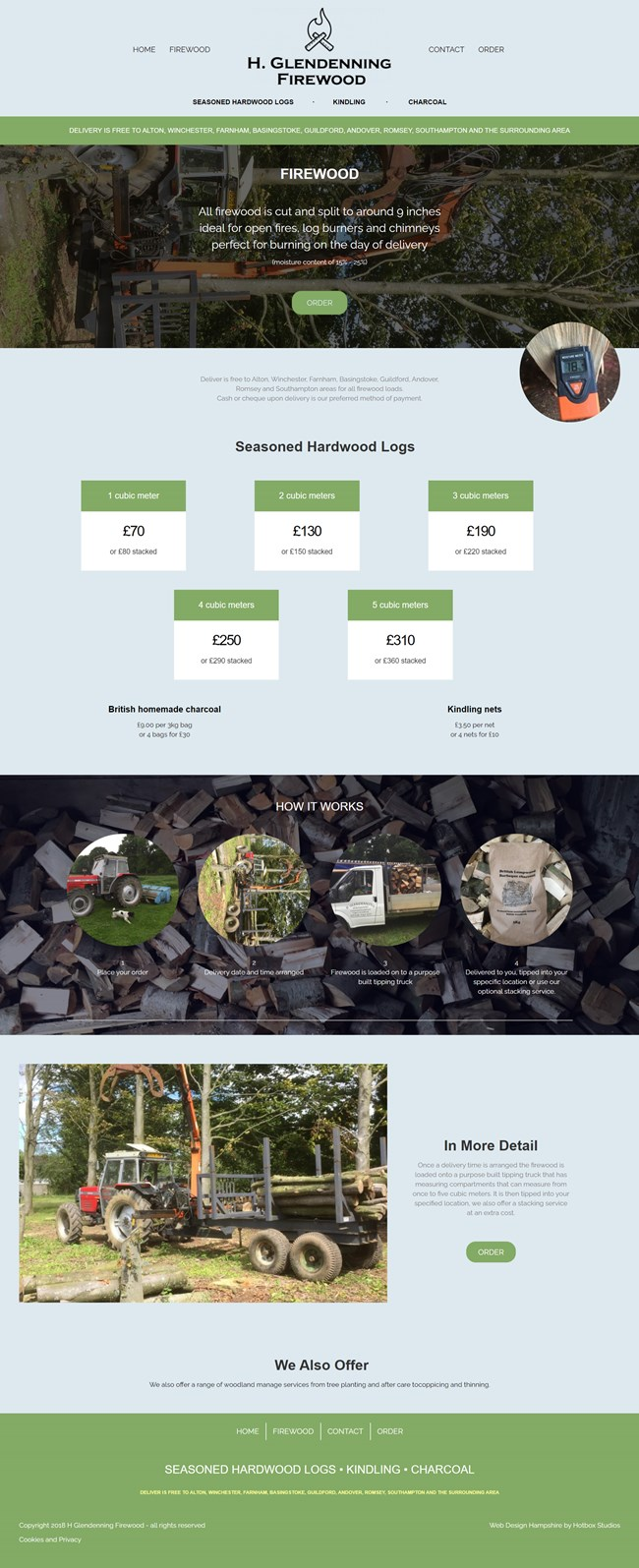 H Glendenning Firewood Website Design and WordPress Web Development SP002 Firewood