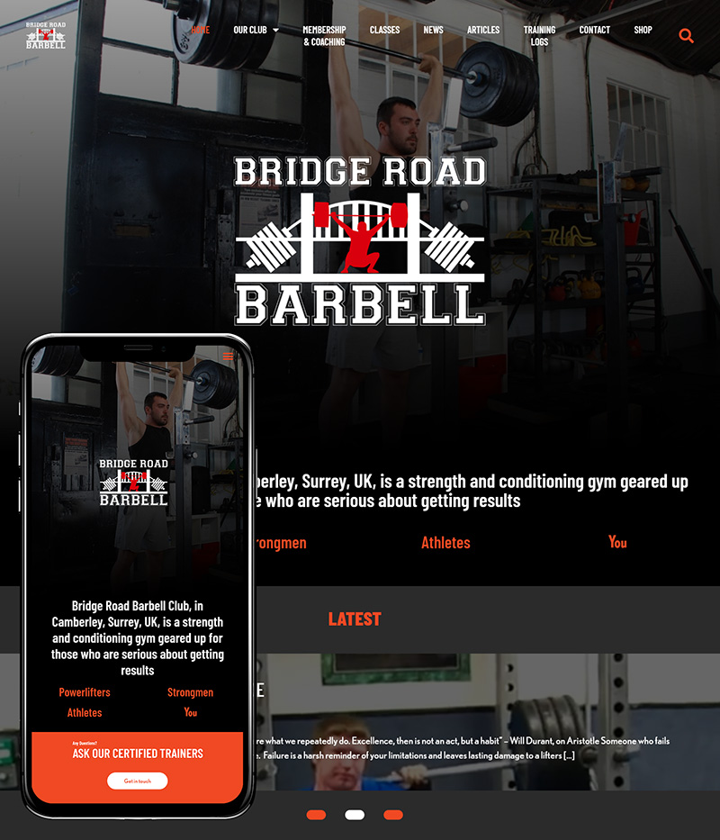 Yateley Website Design Bridge Road Barbell SP001 Homepage Responsive 800x933Px72Dpi