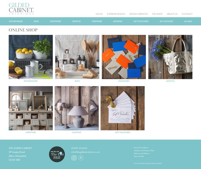 The Gilded Cabinet Website Design and WordPress Web Development SP015 Shop